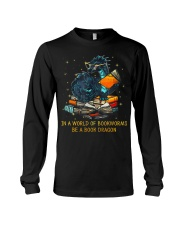 In A World Of Bookworms Be A Book Dragon Long Sleeve Tee thumbnail