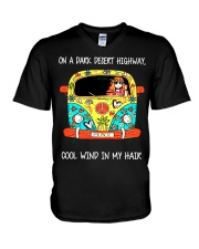 On A Dark Desert Highway V-Neck T-Shirt thumbnail