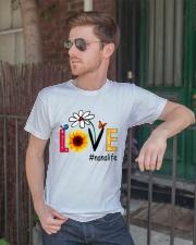 Love Nana Life Heart Sunflower Shirt Classic T-Shirt lifestyle-mens-crewneck-front-2