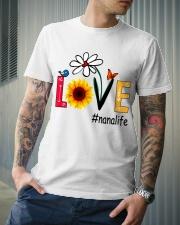 Love Nana Life Heart Sunflower Shirt Classic T-Shirt lifestyle-mens-crewneck-front-6