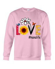 Love Nana Life Heart Sunflower Shirt Crewneck Sweatshirt thumbnail