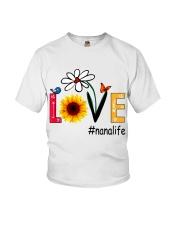 Love Nana Life Heart Sunflower Shirt Youth T-Shirt thumbnail