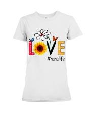 Love Nana Life Heart Sunflower Shirt Premium Fit Ladies Tee thumbnail