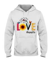 Love Nana Life Heart Sunflower Shirt Hooded Sweatshirt thumbnail