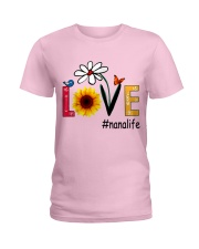 Love Nana Life Heart Sunflower Shirt Ladies T-Shirt thumbnail