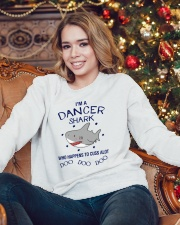 I'm a dancer shark Tshirt Crewneck Sweatshirt lifestyle-holiday-sweater-front-3