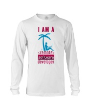 I am a Remote Software Developer Long Sleeve Tee thumbnail