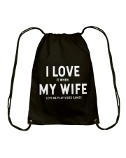 My wife Drawstring Bag thumbnail