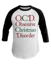 OCD Christmas Baseball Tee tile