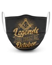 Legends Are Born In October Masks tile