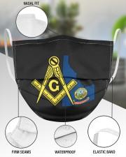 Idaho Freemasons 3 Layer Face Mask - Single aos-face-mask-3-layers-lifestyle-front-49