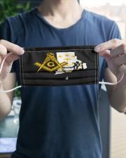 Rhode Island Freemasons 3 Layer Face Mask - Single aos-face-mask-3-layers-lifestyle-front-20