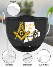 Rhode Island Freemasons 3 Layer Face Mask - Single aos-face-mask-3-layers-lifestyle-front-49