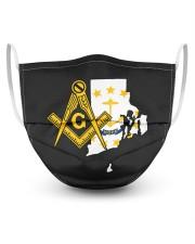 Rhode Island Freemasons 3 Layer Face Mask - Single front