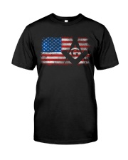 Vintage US Masonic Flag Classic T-Shirt front