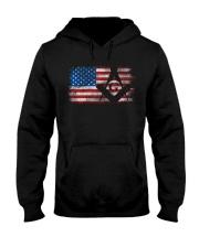 Vintage US Masonic Flag Hooded Sweatshirt tile