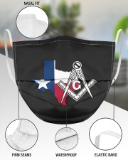 Texas Freemasons 3 Layer Face Mask - Single aos-face-mask-3-layers-lifestyle-front-49