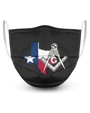 Texas Freemasons 3 Layer Face Mask - Single front