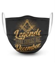 Legends Are Born In December Masks tile