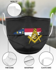 North Carolina Freemasons 3 Layer Face Mask - Single aos-face-mask-3-layers-lifestyle-front-49