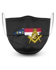 North Carolina Freemasons 3 Layer Face Mask - Single front