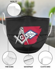 Arkansas Freemasons 3 Layer Face Mask - Single aos-face-mask-3-layers-lifestyle-front-49