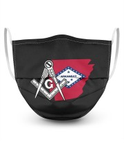 Arkansas Freemasons 3 Layer Face Mask - Single front