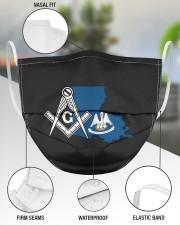 Louisiana Freemasons 3 Layer Face Mask - Single aos-face-mask-3-layers-lifestyle-front-49
