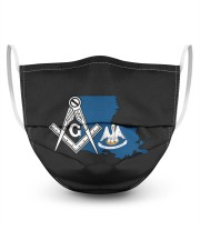 Louisiana Freemasons 3 Layer Face Mask - Single front