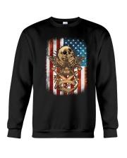 USA Flag Skull Square and Compassed Crewneck Sweatshirt tile