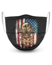 USA Flag Skull Square and Compassed Masks tile