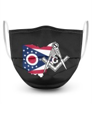 Ohio Freemasons 3 Layer Face Mask - Single front