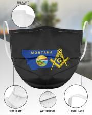 Montana Freemasons 3 Layer Face Mask - Single aos-face-mask-3-layers-lifestyle-front-49