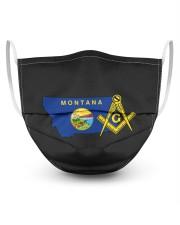 Montana Freemasons 3 Layer Face Mask - Single front