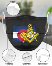 Colorado Freemasons 3 Layer Face Mask - Single aos-face-mask-3-layers-lifestyle-front-49