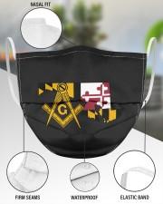 Maryland Freemasons 3 Layer Face Mask - Single aos-face-mask-3-layers-lifestyle-front-49
