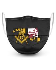 Maryland Freemasons 3 Layer Face Mask - Single front