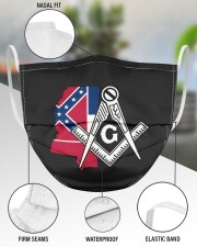 Mississippi Freemasons 3 Layer Face Mask - Single aos-face-mask-3-layers-lifestyle-front-49
