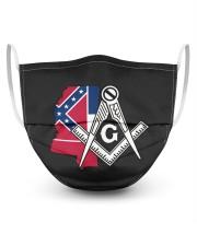 Mississippi Freemasons 3 Layer Face Mask - Single front