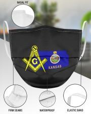 Kansas Freemasons 3 Layer Face Mask - Single aos-face-mask-3-layers-lifestyle-front-49