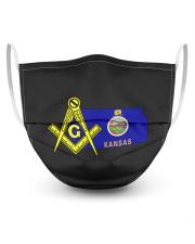 Kansas Freemasons 3 Layer Face Mask - Single front