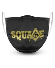 Square 3 Layer Face Mask - Single front