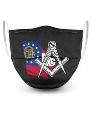 Georgia Freemasons 3 Layer Face Mask - Single front