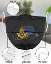 Alaska Freemasons 3 Layer Face Mask - Single aos-face-mask-3-layers-lifestyle-front-49