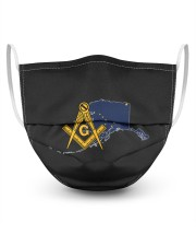 Alaska Freemasons 3 Layer Face Mask - Single front