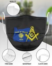 Oregon Freemasons 3 Layer Face Mask - Single aos-face-mask-3-layers-lifestyle-front-49