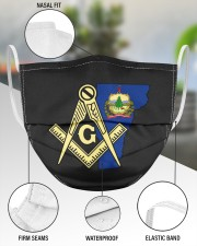 Vermont Freemasons 3 Layer Face Mask - Single aos-face-mask-3-layers-lifestyle-front-49