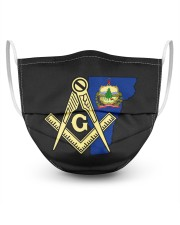 Vermont Freemasons 3 Layer Face Mask - Single front
