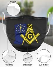 Indiana Freemasons 3 Layer Face Mask - Single aos-face-mask-3-layers-lifestyle-front-49