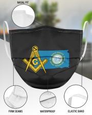 South-Dakota Freemasons 3 Layer Face Mask - Single aos-face-mask-3-layers-lifestyle-front-49
